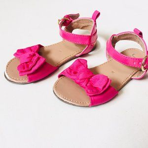 Pink Bow Knot Strap Sandals